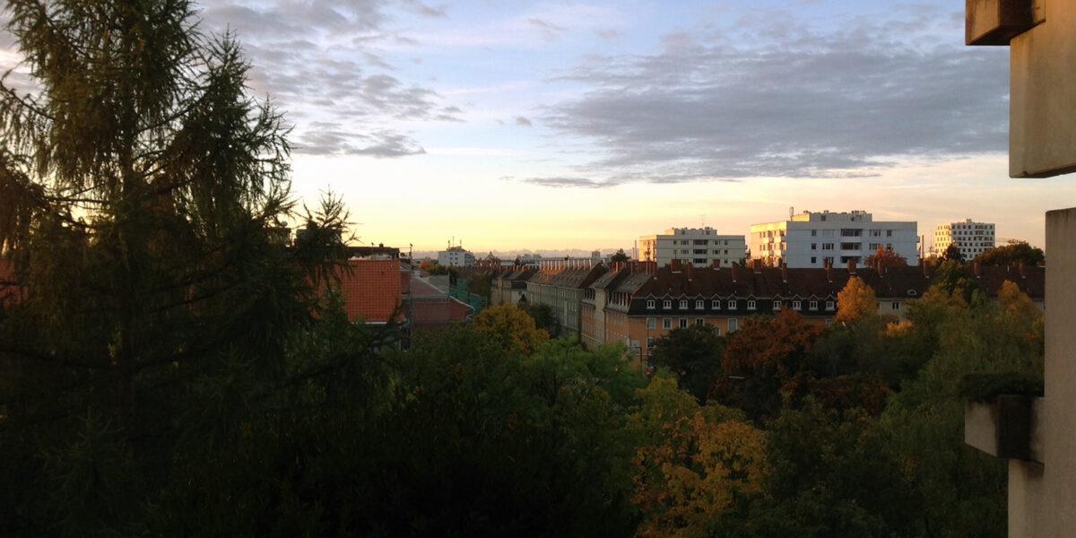 Zuhause auf dem Balkon