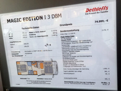 Dethleffs Magic Edition T3 Grundriss