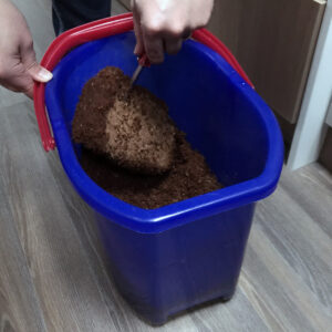 1 - Vorbereiten Kokosmulch