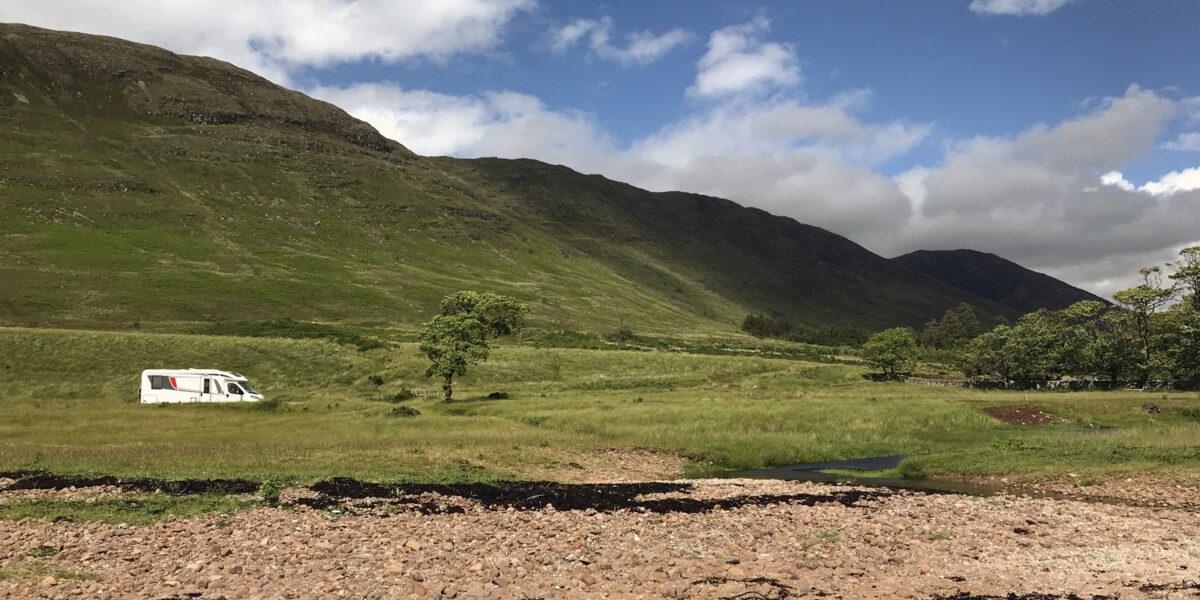 Freistehen in den Highlands