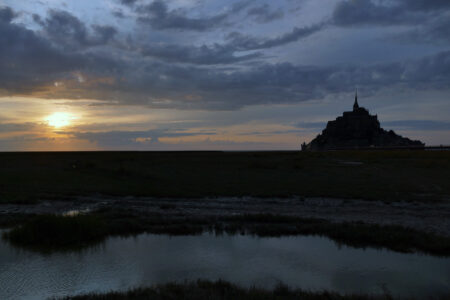 Sonnenuntergang am Mont Saint Michel