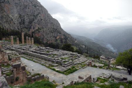 Orakel von Delphi - Apollon Tempel