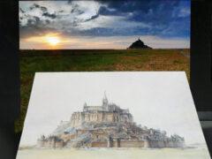 Saint Mont Michel Postkarte